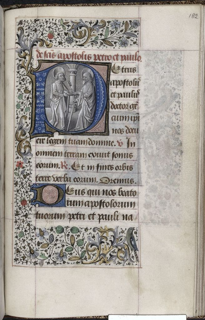Peter and Paul from BL YT 4, f. 182