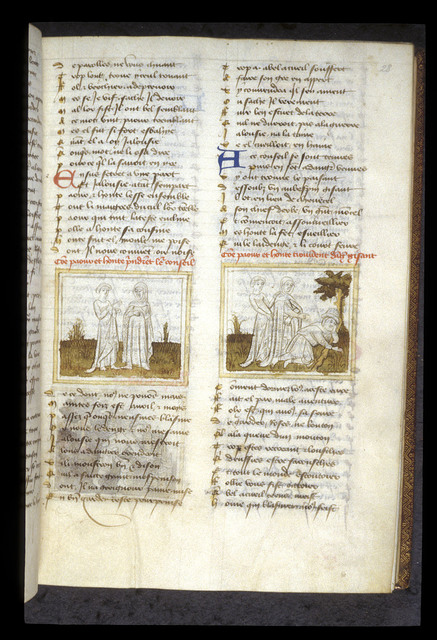 Peur and Honte from BL Eg 1069, f. 28
