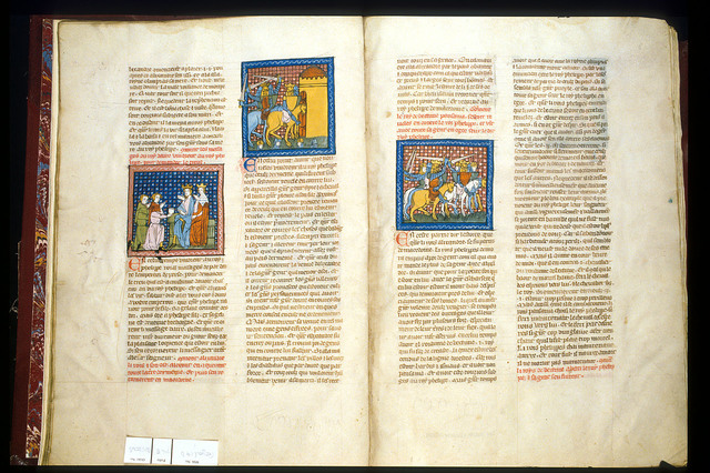 Philip and Alexander from BL Royal 19 D I, ff. 7v-8