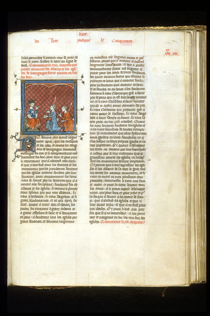 Philip Augustus from BL Royal 16 G VI, f. 338