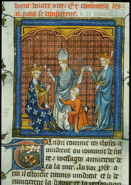 Philip Augustus from BL Royal 16 G VI, f. 344v