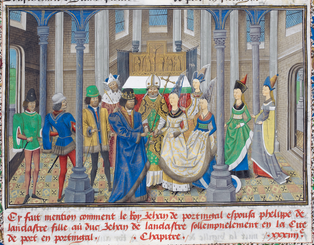 Philippa of Lancaster and John of Portugal from BL Royal 14 E IV, f. 284