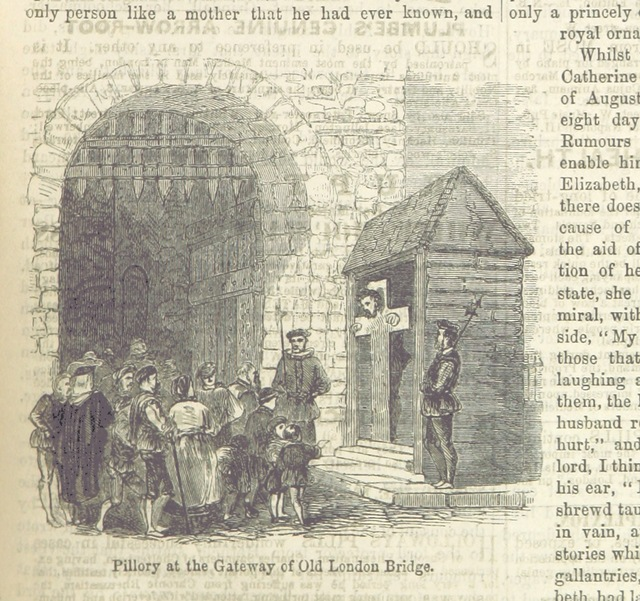 """pillory from """"John Cassell's Illustrated History of England. The text, to the Reign of Edward I., by J. F. Smith; and from that period by W. Howitt"""""""