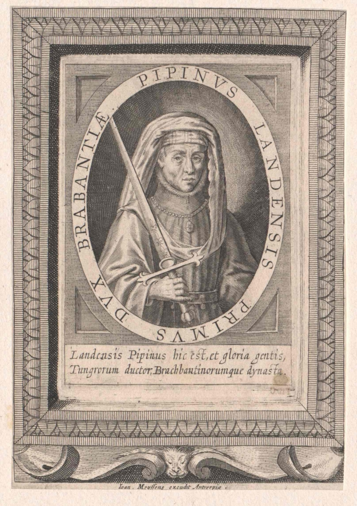 Pippin der Ältere, Majordomus der Franken