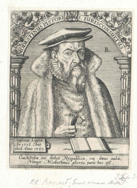 Pistoris von Seußlitz, Modestinus