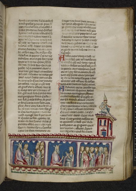 Plots and councils in Troy from BL Royal 20 D I, f. 161