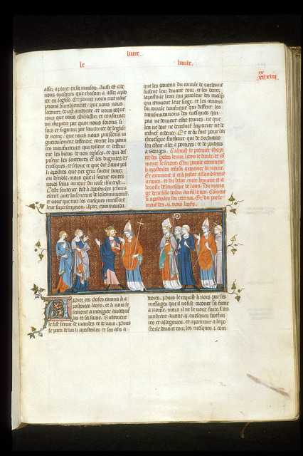 Pope and Queen from BL Royal 16 G VI, f. 239