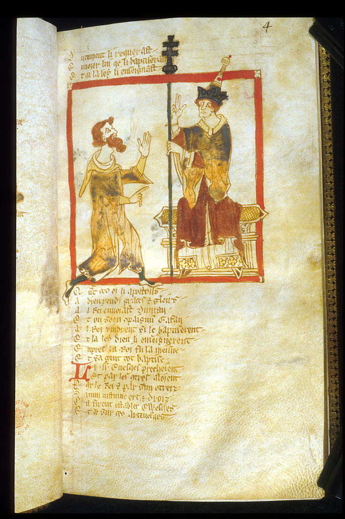 Pope Eleutherius from BL Eg 3028, f. 4