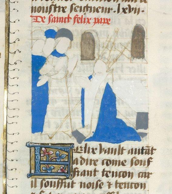 Pope Felix from BL YT 49, vol. 2, f. 27v
