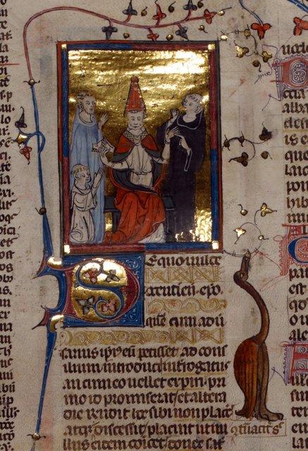 Pope from BL Royal 10 E IV, f. 91v