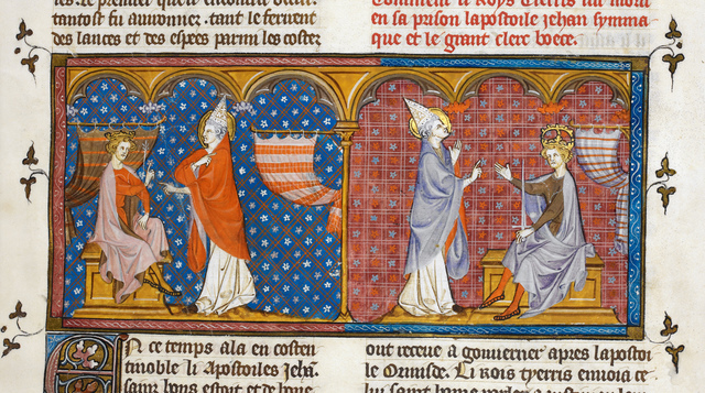 Pope John from BL Royal 16 G VI, f. 22