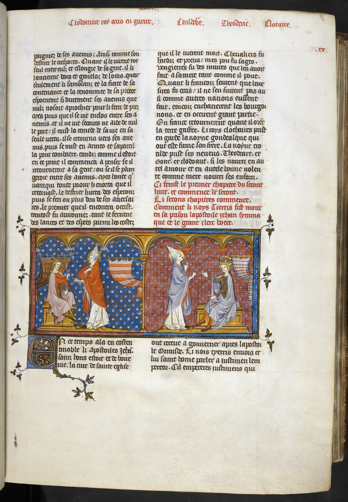 Pope John from BL Royal 16 G VI, f. 22