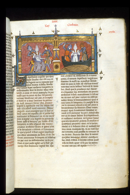 Pope Vigilius from BL Royal 16 G VI, f. 38