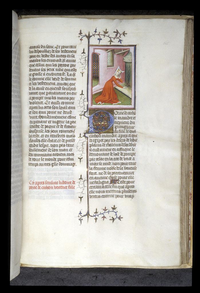 Porcia, daughter of Cato Uticensis from BL Royal 20 C V, f. 125
