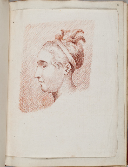 Portret van een meisje en profil