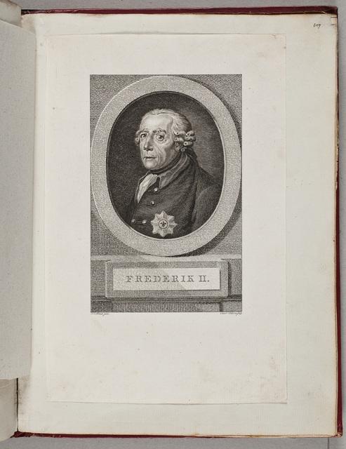 Portret van Frederik II, koning van Pruisen (1712-1786) / door R[einier] Vinkeles (1741-1816) naar J[ohann] C[hristoph] Frisch (1738-1815)