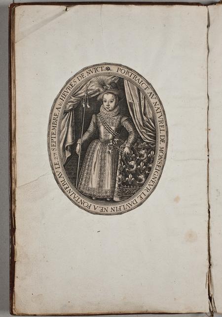Portret van Lodewijk XIII, koning van Frankrijk (1610-1643), in het album van de Nederlandse Natie te Angers