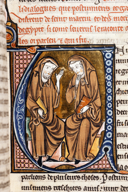 Postumianus and Gallus from BL Royal 20 D VI, f. 112