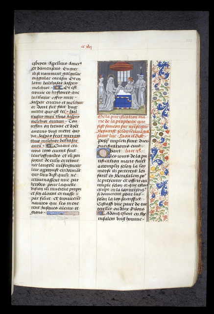 Presentation in the Temple from BL Royal 15 D I, f. 233