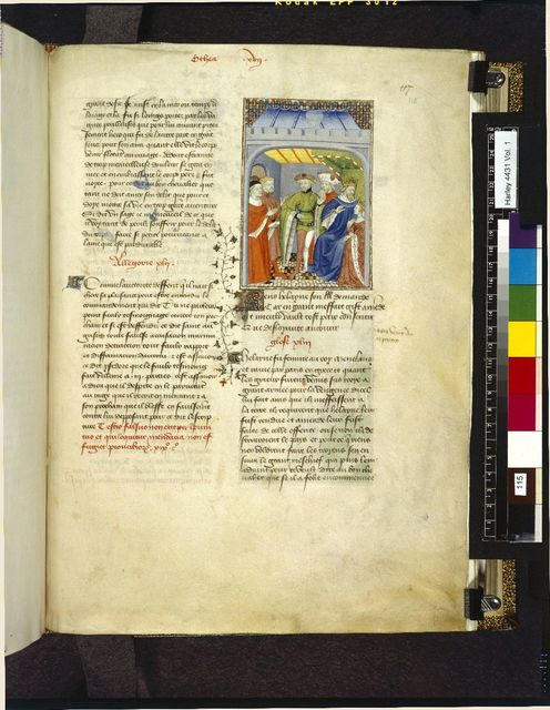 Priam and Helen from BL Harley 4431, f. 115