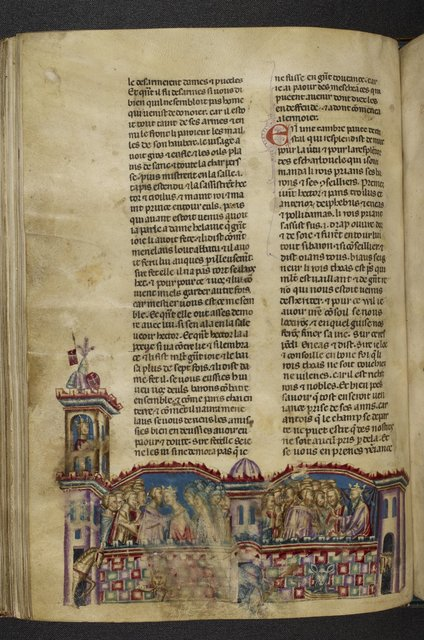 Priam's palace from BL Royal 20 D I, f. 89v
