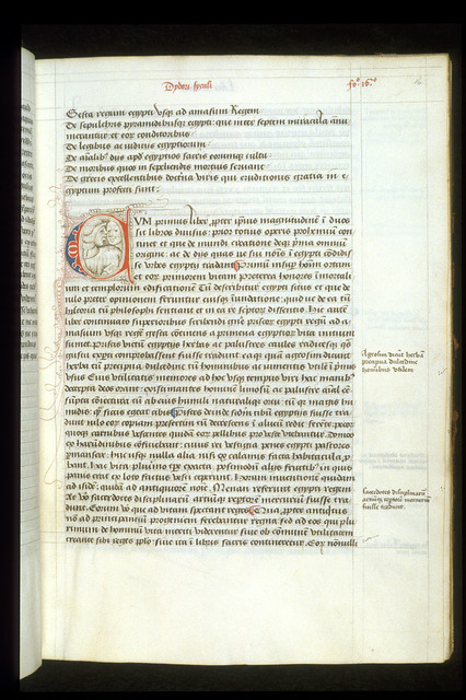 Puzzle initial from BL Arundel 93, f. 16