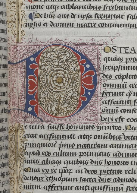 Puzzle initial from BL Arundel 93, f. 48