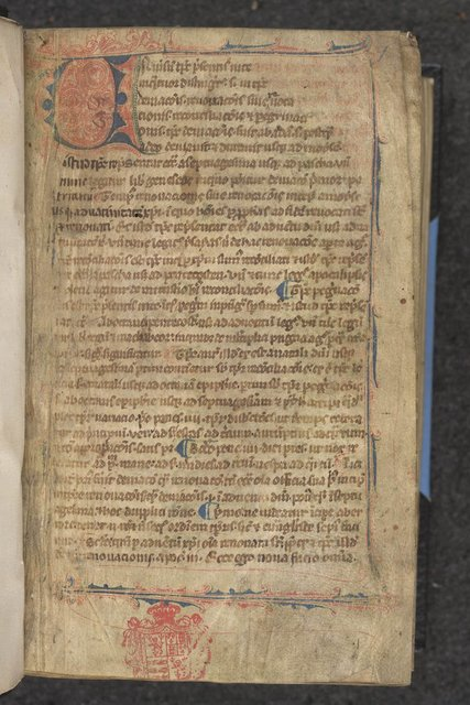 Puzzle initial from BL Eg 666, f. 1