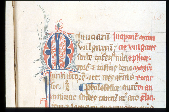 Puzzle initial from BL Harley 3735, f. 59