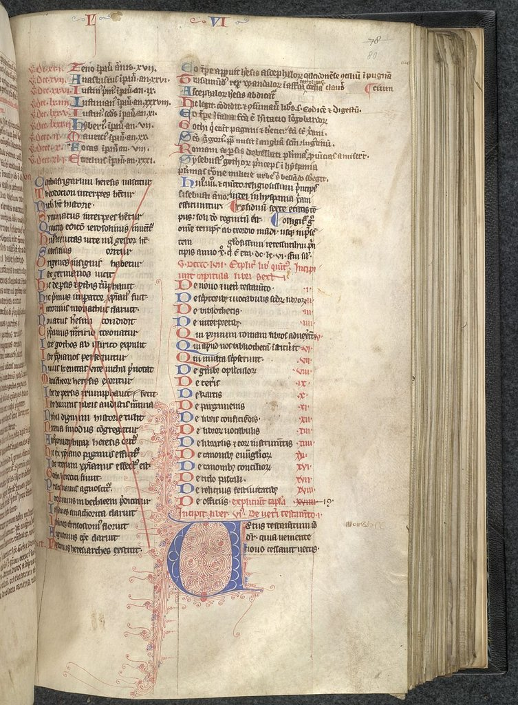 Puzzle initial from BL Lansdowne 433, f. 80