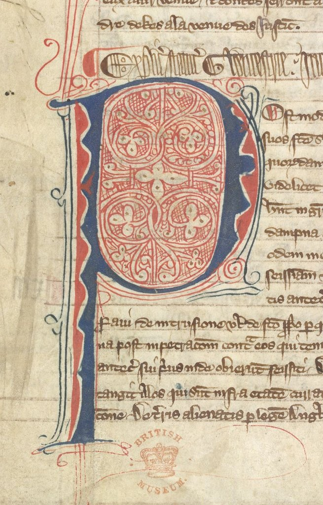 Puzzle initial from BL Lansdowne 472, f. 20v