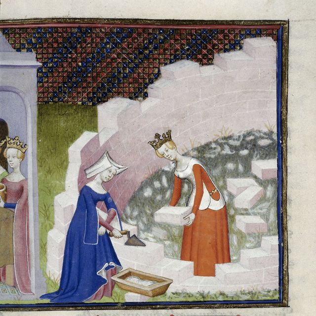 Queen and attendant from BL Harley 4431, f. 290