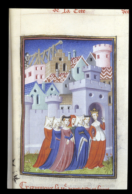 Queen and ladies from BL Harley 4431, f. 323