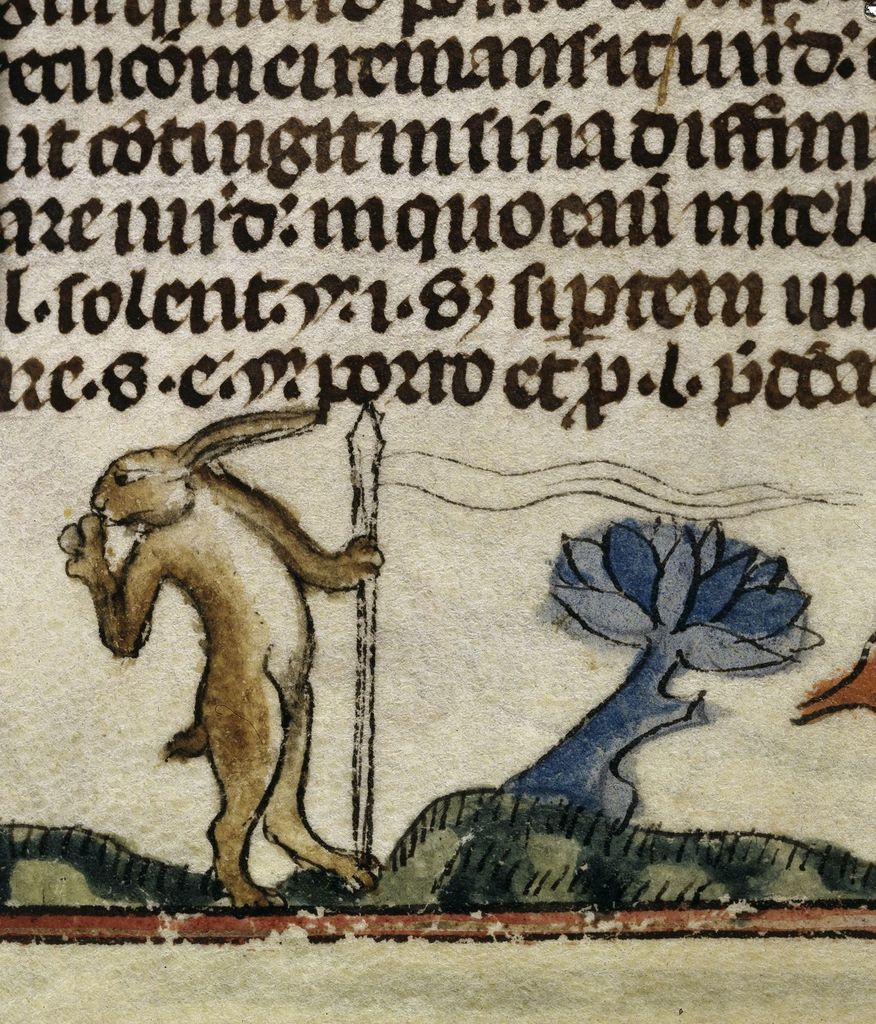 Rabbit from BL Royal 10 E IV, f. 64