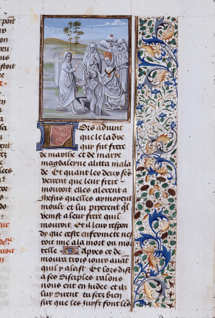 Raising of Lazarus from BL Royal 15 D I, f. 311