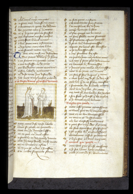 Reason and the Lover from BL Eg 1069, f. 32