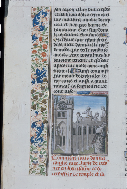 Rebuilding of the Temple from BL Royal 15 D I, f. 62v