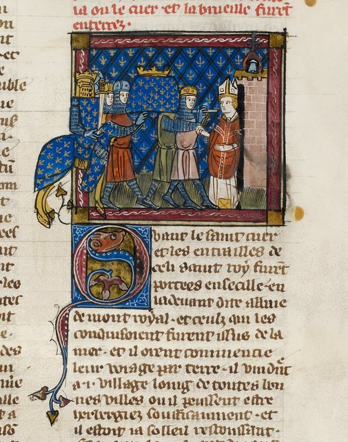 Relics of Louis from BL Royal 19 D I, f. 227