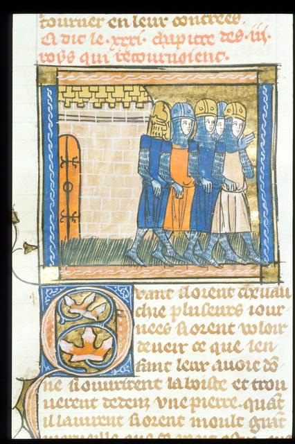 Return of the Magi from BL Royal 19 D I, f. 65v
