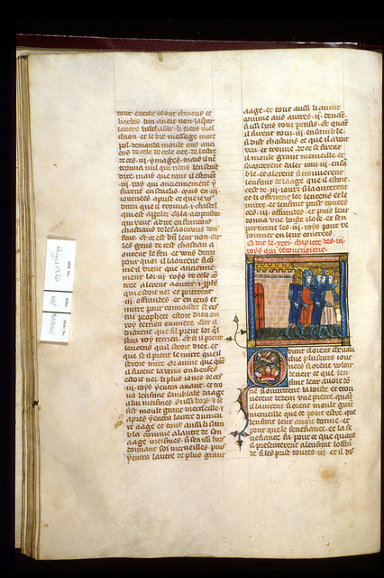 Return of the Magi from BL Royal 19 D I, f. 66v