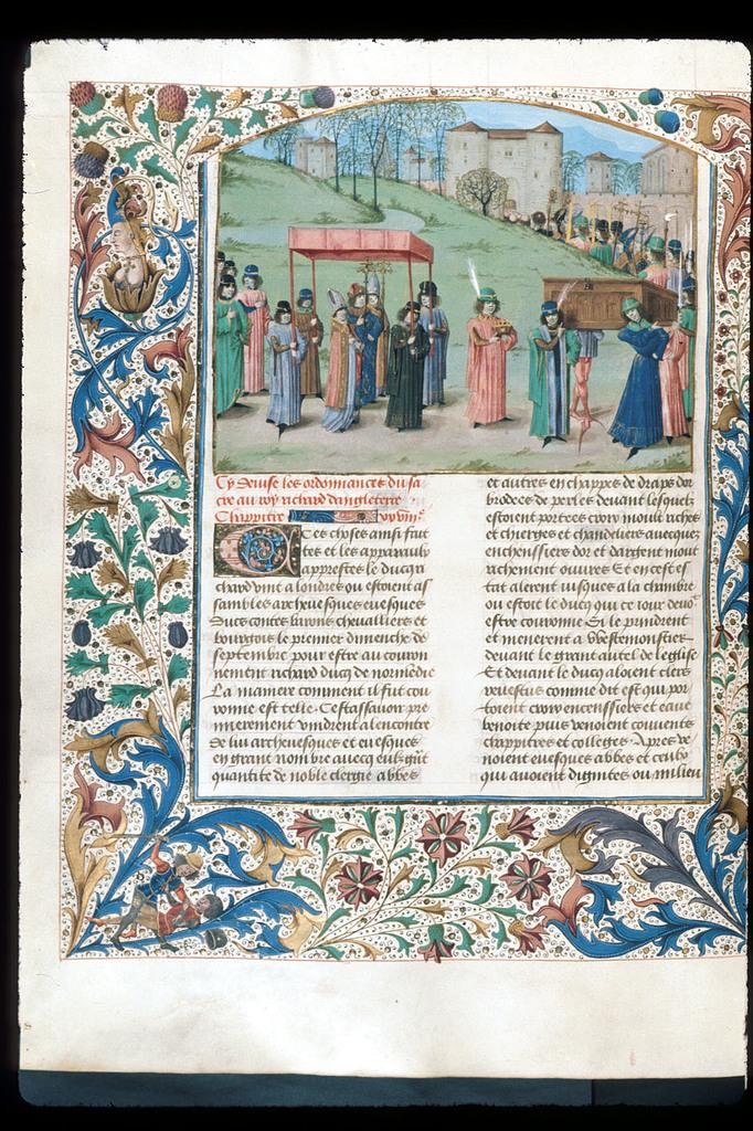 Richard I from BL Royal 15 E IV, f. 257