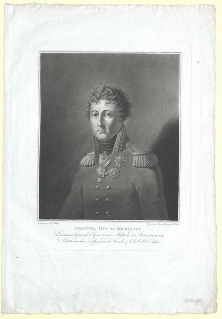 Richelieu, Armand-Emmanuel du Plessis, Duc de
