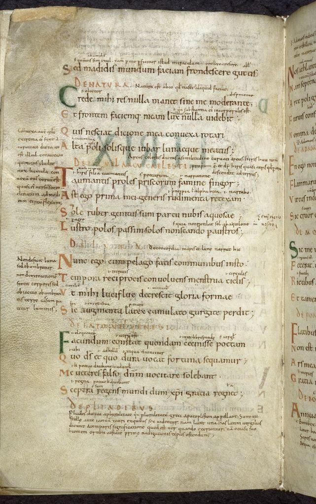 Riddles of Aldhelm from BL Royal 12 C XXIII, f. 84v