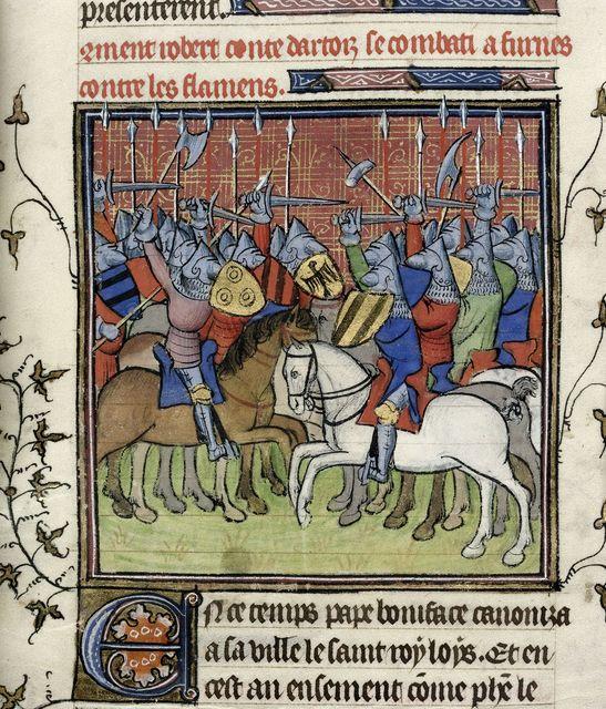 Robert d'Artois from BL Royal 20 C VII, f. 30