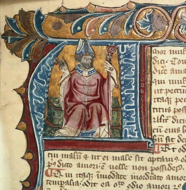 Robert Grosseteste from BL Royal 6 E V, f. 6