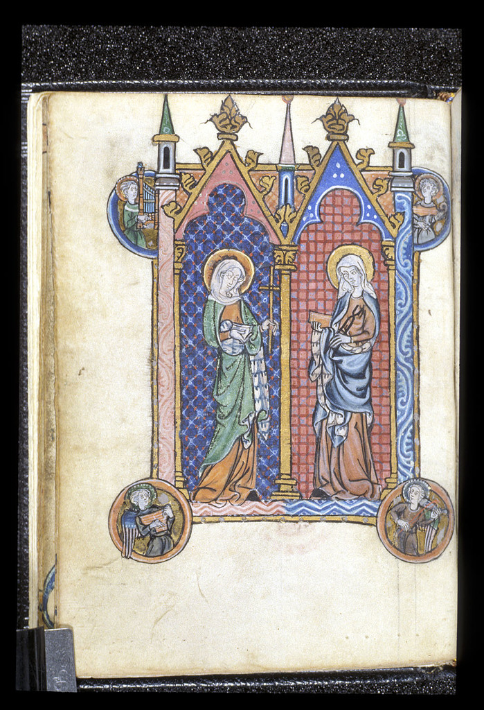 Saints from BL Stowe 17, f. 14v