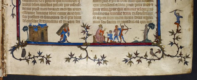 Samson and Solomon from BL Royal 19 D II, f. 1