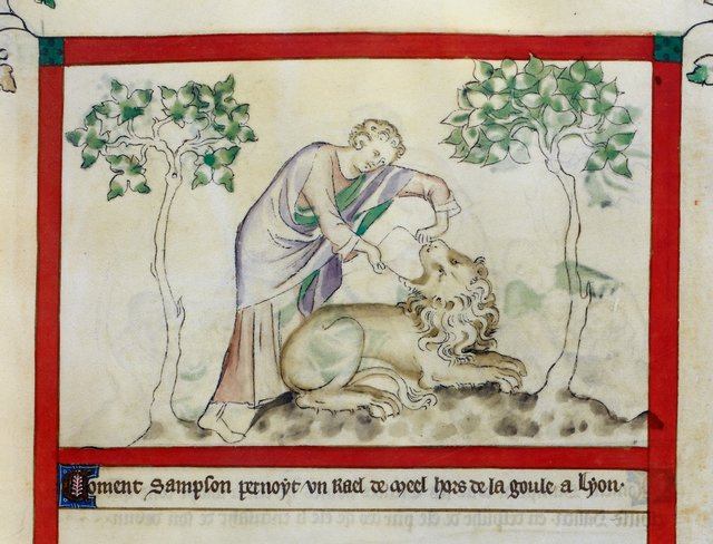 Samson from BL Royal 2 B VII, f. 44