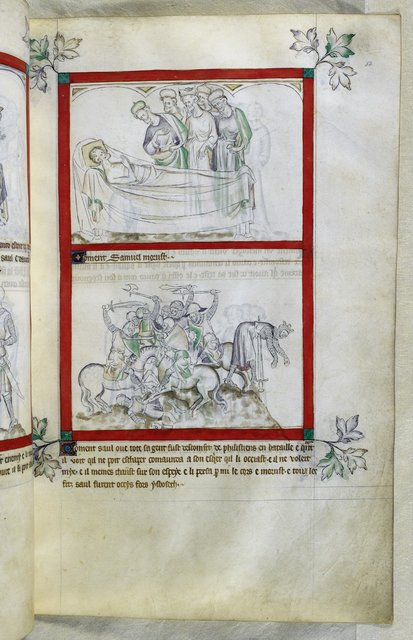 Samuel and Saul from BL Royal 2 B VII, f. 53