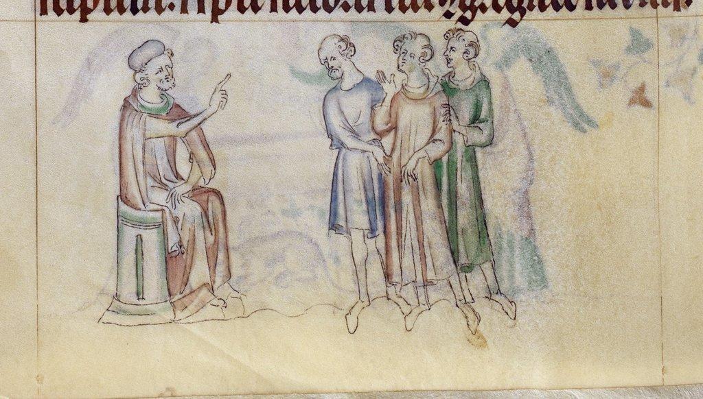 Saturninus and Sisinnius from BL Royal 2 B VII, f. 284v